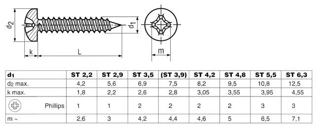 50 St/ück 2,9 x 25 mm Blechschrauben DIN 7981 ISO 14585 TORX Edelstahl A2 VA V2A Linsenkopf